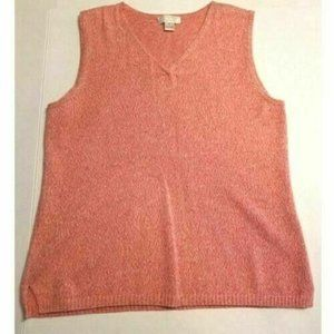 Christopher & Banks Pink Sweater Sleeveless Size S